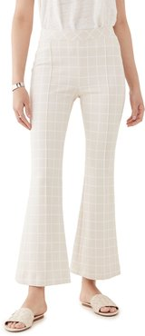 Pull On Cropped Flare Trousers