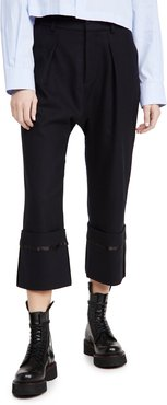 Long Rise Pants with Wide Cuff Pants