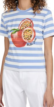 Slim T-Shirt with Pomegranate Print
