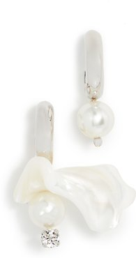 Mix Match Mother of Pearl Hoop Earrings