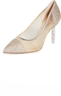Jasmine Crystal Mid Pumps