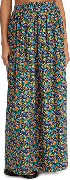 Sabine Floral Pull On Cocoon Skirt