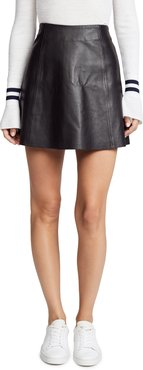 Leather Circle Mini Skirt
