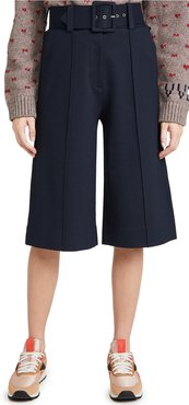 Belted Ponti Jersey Culottes