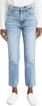 Wild West High Rise Straight Jeans