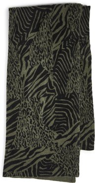 Patched Animal Cashmere Mini Travel Wrap