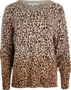 Ombre Leopard Cashmere Sweater