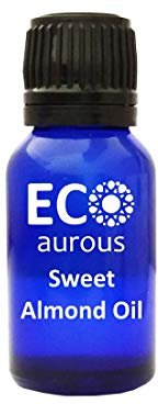 Sweet Almond Oil 100% Natural, Organic & Vegan Essential Oil | Absolute Essential Oil by Eco Aurous with Euro Dropper (30 ml)