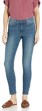 Mid-Rise Skinny Jeans, Authentic Blue, 25 Short
