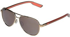 Peli (Shiny Gold/Copper Silver Mirror Lens) Fashion Sunglasses