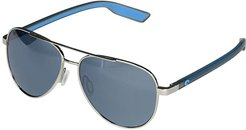Peli (Shiny Silver/Gray Silver Mirror Lens) Fashion Sunglasses