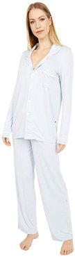 Collared Pajama Set (Dew/Natural) Women's Pajama Sets