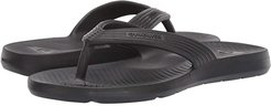 Salvage Flip-Flops (Solid Black) Men's Sandals
