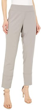 KL Leisure Stretchy Pull-On Skinny Pants with Back Slit (Beige) Women's Casual Pants