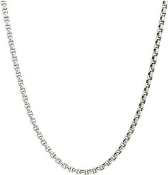 3.7mm Box Chain Necklace Size 24 (Silver) Necklace