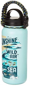 Swim In The Sea 32 oz Insulated Steel Water Bottle (Mint Green) Individual Pieces Cookware