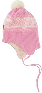 Cortina Hat (2-4 Years) (Pink Candy/Off-White) Beanies