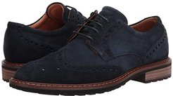 Vitrus I Wingtip Tie (Navy) Men's Lace Up Wing Tip Shoes