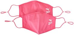 Face Mask II (Set of 2) (Glowing Pink/Pretty Pink) Scarves