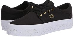Trase Platform TX (Black/Gold 2) Women's Skate Shoes