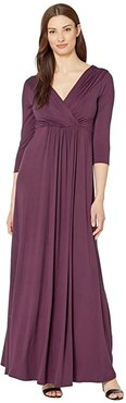 Willow Maternity Gown (Claret) Women's Dress