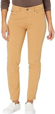 Solid Cool Twill Christina Cigarette Ankle in Mustard (Mustard) Women's Jeans