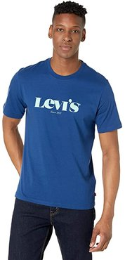 Short Sleeve Relaxed Fit Tee (Blues) Men's T Shirt