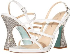 Pacey Heeled Sandal (White Leather) Women's Shoes