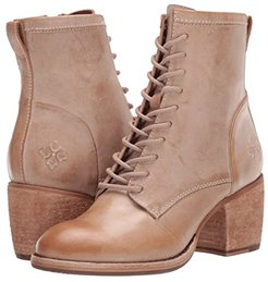 Sicily (Ivory Leather) Women's Lace-up Boots