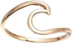 Wave Ring (925 Sterling Silver/Rose Gold Plating) Ring