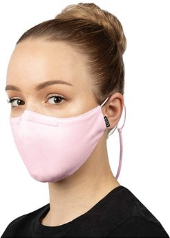 Soft Stretch Face Mask w/ Moldable Nose Pad and Lanyard 3-Pack (Pink) Scarves