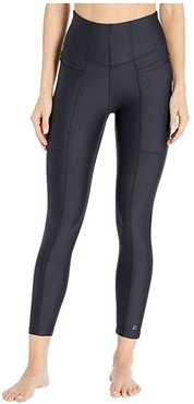 High-Rise 7/8 Tights (Black) Women's Casual Pants