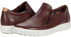 Soft 7 Side-Zip Sneaker (Chocolate Cow Leather) Women's Shoes