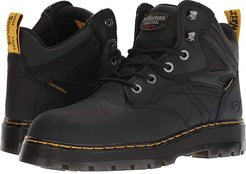 Plenum WP ST 6-Tie Boot (Black) Men's Work Boots