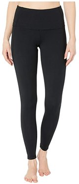 High-Waisted Leggings (Deep Black) Women's Casual Pants