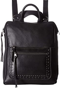 Loyola Leather Convertible Backpack (Black) Backpack Bags