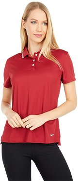 Dry Victory Polo Short Sleeve Solid (Team Crimson/White/White) Women's Clothing