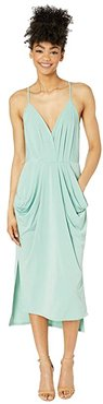 Drapey Pocket Midi Dress - YDM6169244 (Pistachio) Women's Dress