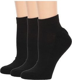 Classic Foundational Made for Chuck High 3-Pair Pack (Black) Women's No Show Socks Shoes