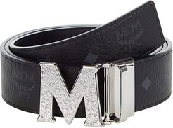 Reversible One Size Belt (Black) Men's Belts