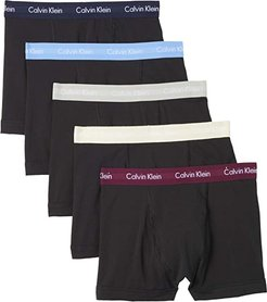 Cotton Stretch Multipack Low Rise Trunks (Black Body/Blue Bay/Shortline/Jet Grey/Oatmeal Heather) Men's Underwear