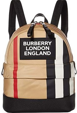 Small Nico Stripe Logo Backpack (Archive Beige) Backpack Bags