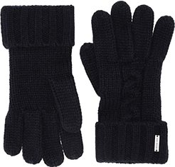 Striped Patchwork Cable Gloves (Midnight) Extreme Cold Weather Gloves