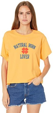 Graphic Varsity Tee (Natural Born Lover) Women's Clothing