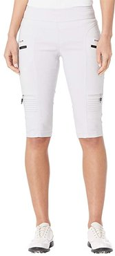Skinnylicious 24.5 Knee Capris with Control Top Panel (Misty) Women's Casual Pants