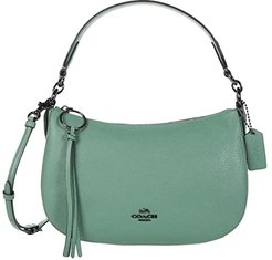 Polished Pebble Leather Sutton Crossbody (GM/Washed Green) Handbags
