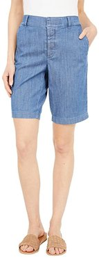 Hollywood 10 Stretch Shorts with Velcro Brand Closure and Magnetic Fly (Medium Wash) Women's Shorts