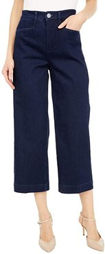 Statement Denim Suzanne Wide Leg Trousers Crop in Midnight Wash (Midnight Wash) Women's Jeans
