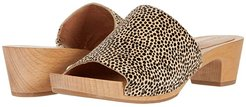 Abigail Slide Clog (Dried Flax Multi Haircalf) Women's Shoes