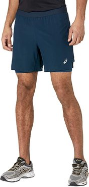 Road 2-in-1 7 Shorts (French Blue/French Blue) Men's Shorts